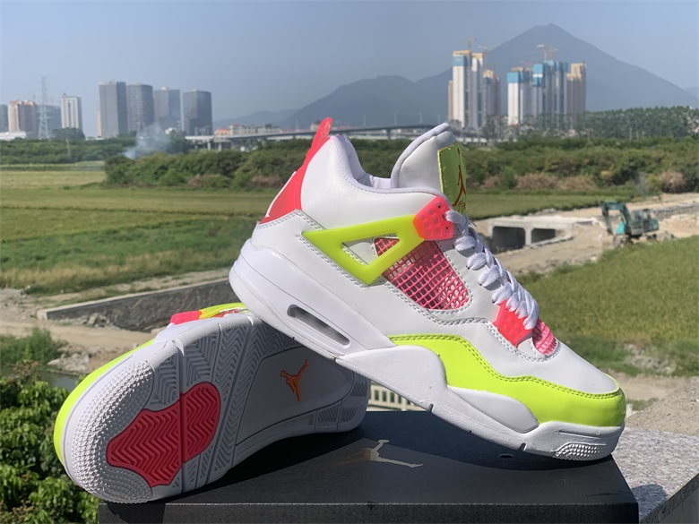 2020 Cheap Air Jordan 4 Lemon Venom Sneakers For Women in 227646, cheap Air Jordan For Women Jordan 4 For Women, only $65!