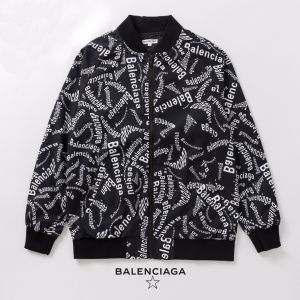 2020 Balenciaga Allover Logo Zip Up Bomber Jackets For Men in 229205