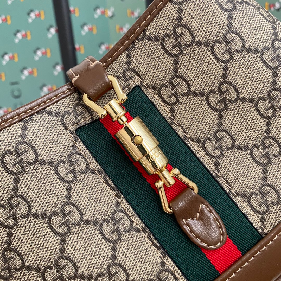 Gucci Jackie Hobo GG Canvas Shoulder Bag For Women # 232807, cheap Gucci Wallets, only $84!