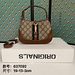 Gucci Jackie Hobo GG Canvas Shoulder Bag For Women # 232807, cheap Gucci Wallets